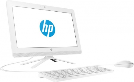 "Моноблок HP 20-c433ur 19.5"" Full HD i3 7130U (2.7)/8Gb/1Tb 7.2k/HDG620/CR/Free DOS 2.0/GbitEth/WiFi/BT/65W/клавиатура/мышь/Cam/белый 1920x1080"